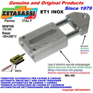 TENDITORE AUTOMATICO LINEARE ET1 INOX Con testa filettata Newton110:240