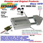 AUTOMATISCHE LINEAR SPANNER ET1 INOX KU mit Gewindekopf (PTFE Buchsen) Newton110:240