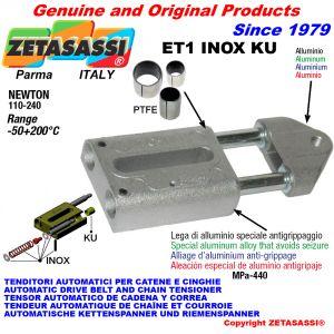 TENSOR AUTOMATICO LINEAL ET1 INOX KU con cabeza roscada (casquillos PTFE) Newton110:240