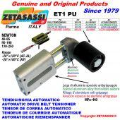 TENSOR DE CORREA AUTOMATICO LINEAL ET1 PU con rodillo tensor Newton90:340-110:450-130:250-95:190-40:85