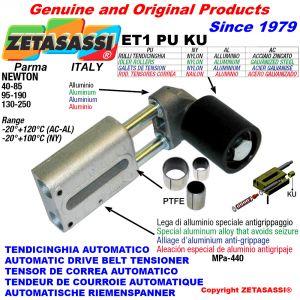 TENSOR DE CORREA AUTOMATICO LINEAL ET1 PU KU rodillo tensor (casquillos PTFE) Newton90:340-110:450-130:250-95:190-40:85