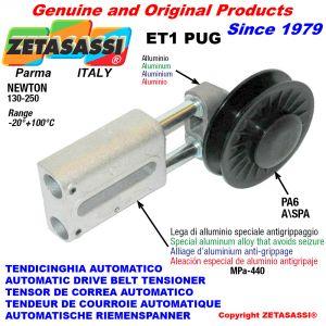 TENSOR DE CORREA AUTOMATICO LINEAL ET1 PUG con polea a garganta Newton130:250