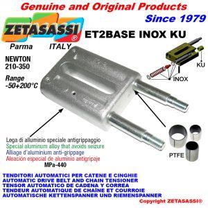 AUTOMATISCHE LINEAR SPANNER ET2 BASE INOX KU Ohne Kopf (PTFE Buchsen) Newton210:350