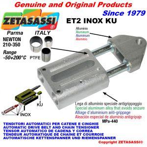TENDEUR AUTOMATIQUE LINÉAIRE ET2 INOX KU Avec la tête filetée (bagues PTFE) Newton210:350