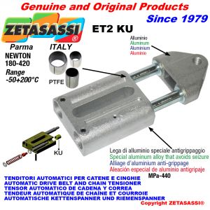 TENDITORE AUTOMATICO LINEARE ET2 KU Con testa filettata (Boccole PTFE) Newton180:420