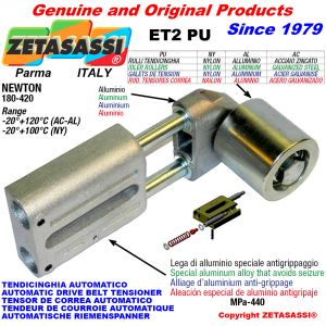 AUTOMATIC LINEAR BELT TENSIONER ET2 PU with belt roller Newton180:420