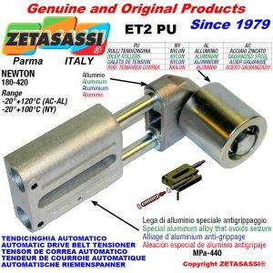 AUTOMATISCHE LINEAR RIEMENSPANNER ET2 PU mit Riemen Spannrolle Newton180:420