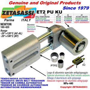AUTOMATISCHE LINEAR RIEMENSPANNER ET2 PU KU mit Riemen  Spannrolle (PTFE Buchsen) Newton180:420