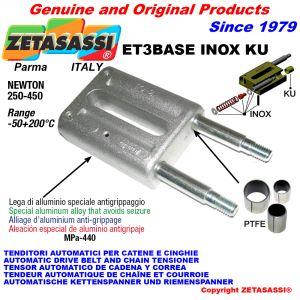 TENDITORE AUTOMATICO LINEARE ET3 BASE INOX KU Senza testa (Boccole PTFE) Newton250:450