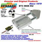 TENDITORE AUTOMATICO LINEARE ET3 INOX KU Con testa filettata (Boccole PTFE) Newton250:450