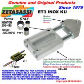 TENSOR AUTOMATICO LINEAL ET3 INOX KU con cabeza roscada (casquillos PTFE) Newton250:450