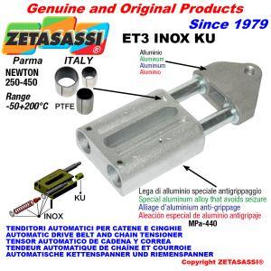 TENDEUR AUTOMATIQUE LINÉAIRE ET3 INOX KU Avec la tête filetée (bagues PTFE) Newton250:450