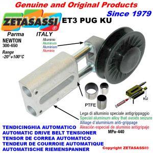 AUTOMATISCHE LINEAR RIEMENSPANNER ET3 PUG KU mit Keilriemenscheibe (PTFE Buchsen) Newton300:650