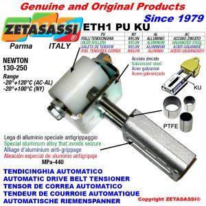 TENDICINGHIA AUTOMATICO LINEARE ETH1 PU KU con forcella e rullo folle (Boccole PTFE) Newton130:250