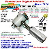 TENSOR DE CORREA AUTOMATICO LINEAL ETH2PUKU con horquilla y rodillo tensor (casquillos PTFE) Newton180:420