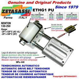 TENDEUR DE COURROIE AUTOMATIQUE LINÉAIRE ETHG1 avec fourche et galets de tension Newton130:250