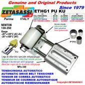 TENDEUR DE COURROIE AUTOMATIQUE LINÉAIRE ETHG1PUKU avec fourche et galets de tension (bagues PTFE) Newton130:250
