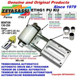 TENSOR DE CORREA AUTOMATICO LINEAL ETHG1PUKU con horquilla y rodillo tensor (casquillos PTFE) Newton130:250