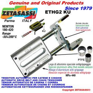 TENDITORE AUTOMATICO LINEARE ETHG2 KU con forcella (Boccole PTFE) Newton180:420