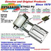 TENDEUR DE COURROIE AUTOMATIQUE LINÉAIRE ETHG2PU avec fourche et galets de tension Newton180:420