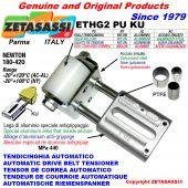 TENDEUR DE COURROIE AUTOMATIQUE LINÉAIRE ETHG2PUKU avec fourche et galets de tension (bagues PTFE) Newton180:420