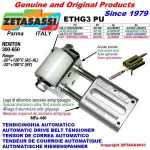 TENSOR DE CORREA AUTOMATICO LINEAL ETHG3PU con horquilla y rodillo tensor Newton300:650