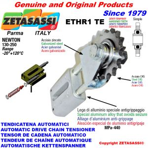AUTOMATIC LINEAR CHAIN TENSIONER ETHR1TE with fork and hardened teeth idler sprocket model ACTE Newton130:250