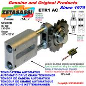 AUTOMATIC LINEAR CHAIN TENSIONER ETR1AC with idler sprocket model AC Newton130:250-95:190