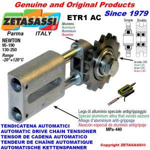 AUTOMATISCHE LINEAR KETTENSPANNER ETR1 AC mit Kettenräder - Kettenradsätze AC Newton130:250-95:190