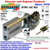AUTOMATIC LINEAR CHAIN TENSIONER ETR1ACKU with idler sprocket model AC (PTFE bushes) Newton130:250-95:190