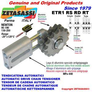 AUTOMATISCHE LINEAR KETTENSPANNER ETR1 mit Kettenräder - Kettenradsätze RS RD RT Newton130:250-95:190