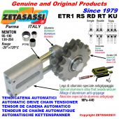 AUTOMATIC LINEAR CHAIN TENSIONER ETR1KU with idler sprocket model RS-RD-RT (PTFE bushes) Newton130:250-95:190