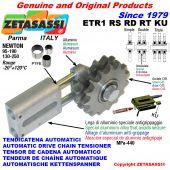 TENSOR DE CADENA AUTOMATICO LINEAL ETR1KU con piñón tensor RS RD RT (casquillos PTFE) Newton130:250-95:190