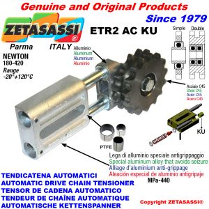 TENSOR DE CADENA AUTOMATICO LINEAL ETR2ACKU con piñón tensor AC (casquillos PTFE) Newton180:420