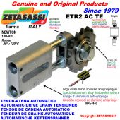 AUTOMATIC LINEAR CHAIN TENSIONER ETR2ACTE with hardened idler sprocket model ACTE Newton180:420
