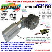 AUTOMATISCHE LINEAR KETTENSPANNER ETR2 KU mit Kettenräder - Kettenradsätze RS RD RT (PTFE Buchsen) Newton180:420