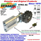 AUTOMATIC LINEAR CHAIN TENSIONER ETR3 AC with idler sprocket model AC Newton300:650