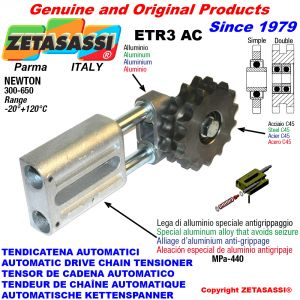 AUTOMATISCHE LINEAR KETTENSPANNER ETR3 AC mit Kettenräder - Kettenradsätze AC Newton300:650