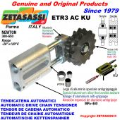 AUTOMATIC LINEAR CHAIN TENSIONERS ETR3ACKU with idler sprocket model AC (PTFE bushes) Newton300:650