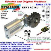 AUTOMATISCHE LINEAR KETTENSPANNER ETR3 AC KU mit Kettenräder - Kettenradsätze AC (PTFE Buchsen) Newton300:650
