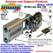 AUTOMATIC LINEAR CHAIN TENSIONER ETR3 AC KU TE with hardened idler sprocket model ACTE (PTFE bushes) Newton300:650