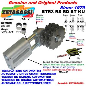 TENSOR DE CADENA AUTOMATICO LINEAL ETR3 KU con piñón tensor RS RD RT (casquillos PTFE) Newton300:650