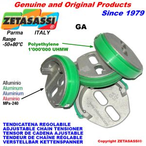 ADJUSTABLE CHAIN TENSIONER GA with chain slider