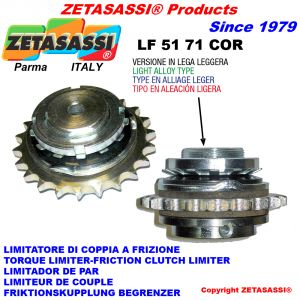 """LIGHT ALLOY TORQUE LIMITER WITH PLATE WHEEL """"LFCOR 51-71"""""""