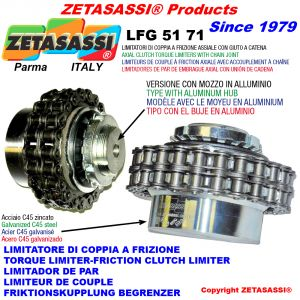 "TORQUE LIMITER WITH CHAIN COUPLING (LIGHT ALLOY HUB) ""LFG 51-71"""