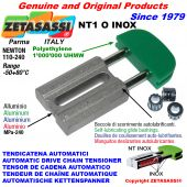 TENDICATENA AUTOMATICO LINEARE NT1 INOX testa ovale Newton110:240 con Boccole Autolubrificanti