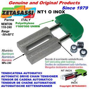 TENDEUR DE CHAÎNE AUTOMATIQUE LINÉAIRE NT1 INOX tête ovale Newton110:240 avec douilles autolubrifiantes