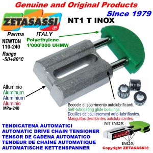 AUTOMATIC LINEAR DRIVE INOX CHAIN TENSIONER NT1 INOX round head Newton110:240 with self-lubricating bushings