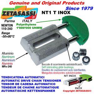 TENSOR DE CADENA AUTOMATICO LINEAL NT1 INOX cabeza redonda Newton110:240 con casquillos autolubricantes