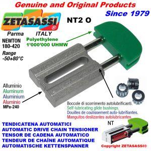 TENDEUR DE CHAÎNE AUTOMATIQUE LINÉAIRE NT2 tête ovale Newton180:420 avec douilles autolubrifiantes